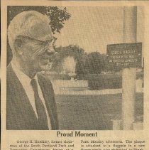 Image of George Hinckley clipping, July 17, 1962