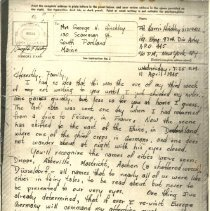 Image of Vmail from Harris to his mother, 4/11/1945