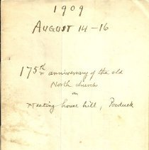 Image of 1909 handwritten book, First Congregational