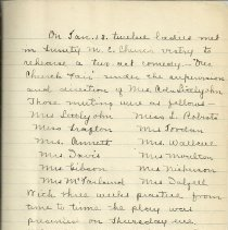 Image of First page of minutes