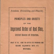 Image of Red Men, booklet cover