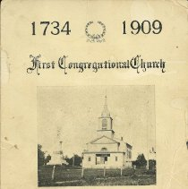 Image of First Congregational Program 1909