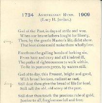 Image of 1909 Anniversary Hymn