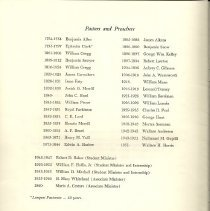Image of List of Pastors and Preachers