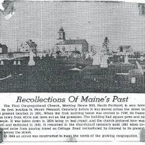 Image of Old North Church news clipping