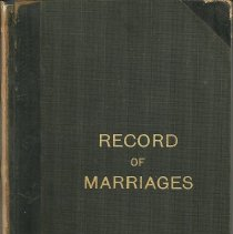 Image of Record of Marriages, Pastor Lawton