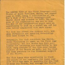Image of Back Page, History of the Eskimo Club