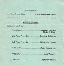 Image of North Church Matron's Program