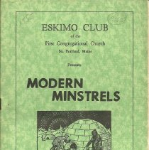 Image of Eskimo Club Minstrels Program