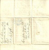 Image of back side of letter