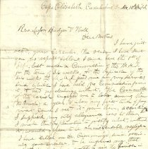 Image of 1848 letter from Royal Parkinson