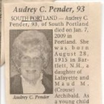 Image of Pender obit 1