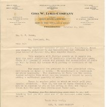 Image of Geo. W. Lord letter