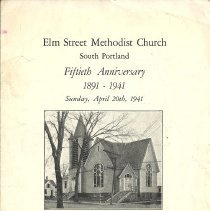 Image of Elm Street Church 1941 Program