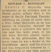 Image of Obituary for Edward C. Reynolds