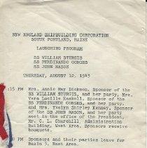 Image of 1943 launching program
