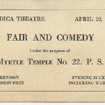Image of Nordica Theatre admission ticket
