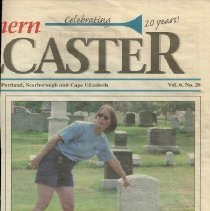 Image of 7/14/2006 article on cemetery tour