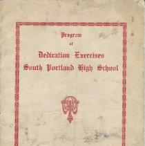 Image of Dedication program, SPHS, 1924