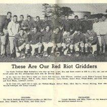Image of Red Riots football program 1960