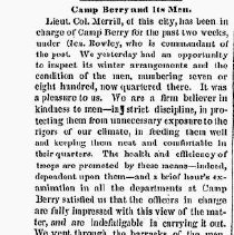 Image of 2-3-1864 news clipping, Daily Eastern Argus