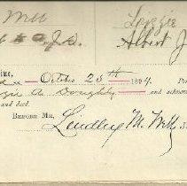 Image of Warrenty Deed - Frank I Brown 1894