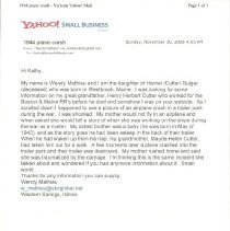 Image of Email from Wendy Mathieu