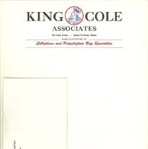 Image of King Cole Associates stationery