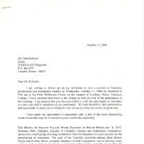 Image of Letter to Dale Kuhnert