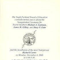 Image of Inauguration Invitation