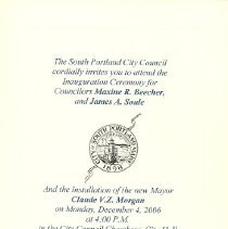 Image of Inauguration Ceremony Card