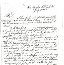Image of William Laird Letters