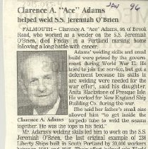 Image of Obituary for Clarence Adams