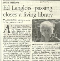 Image of Ed Langlois Obituary