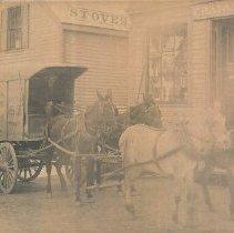 Image of Clark & Chaplin Ice Company wagon