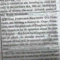 Image of Portland Kerosene article - May 7, 1859