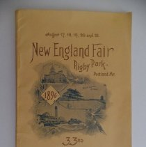 Image of New England Fair program, 1896