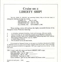 Image of Cruise on the SS John W. Brown, Liberty Ship 1992
