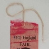 Image of 2nd prize ribbon from 1896 New England Fair