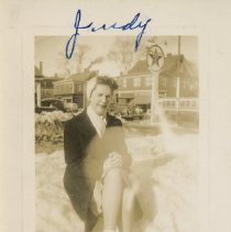 Image of Candid photo of Judy on Ocean Street, circa 1940s