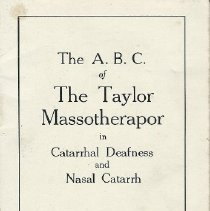 Image of Manual for the Taylor Massotherapor