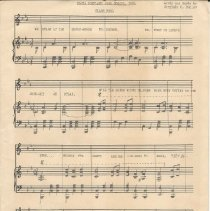 Image of Sheet music for the SPHS class song by Virginia Dudley