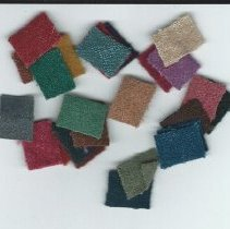 Image of Fabric samples sent by the Old Sparhawk Mills