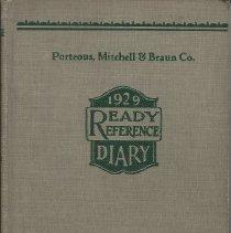 Image of 1929 diary of Rosella Loveitt
