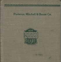Image of 1930 diary of Rosella Loveitt