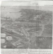 Image of 1954 article about redevelopment of the shipyard area