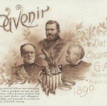 Image of Souvenir card, G.A.R.