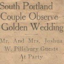 Image of Mr. & Mrs. Joshua Pillsbury golden anniversary