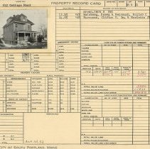 Image of Property record card - 512 Cottage Road