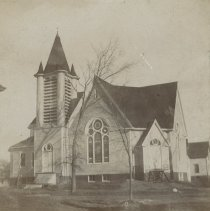 Image of Elm Street Methodist Church before stairs installed